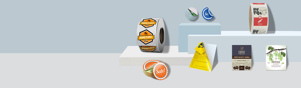 Stickers and Labels Banner category